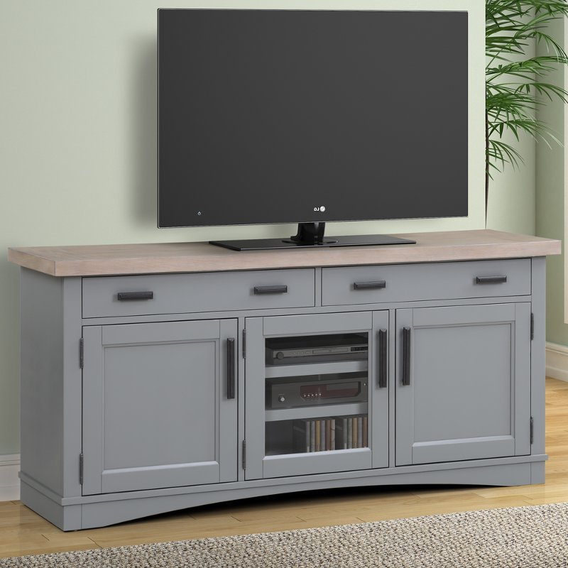 Dove Gray 63 Inch Country Tv Stand | Rc Willey Furniture Store In Penelope Dove Grey Tv Stands (View 11 of 20)