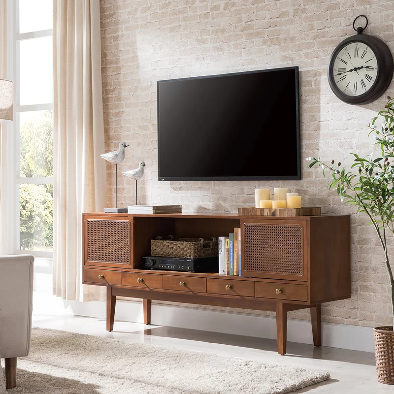 """Dwight Cabinet/enclosed Storage Tv Stand For Tvs Up To 70 Inside Lorraine Tv Stands For Tvs Up To 70"""" (View 13 of 20)"""