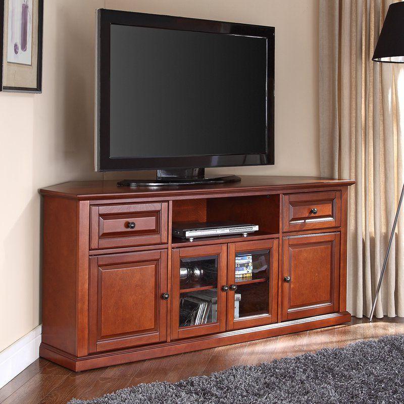 "Dye 60"" Tv Stand | Corner Tv, Corner Tv Stand, Living Room Regarding Kasen Tv Stands For Tvs Up To 60"" (View 18 of 20)"