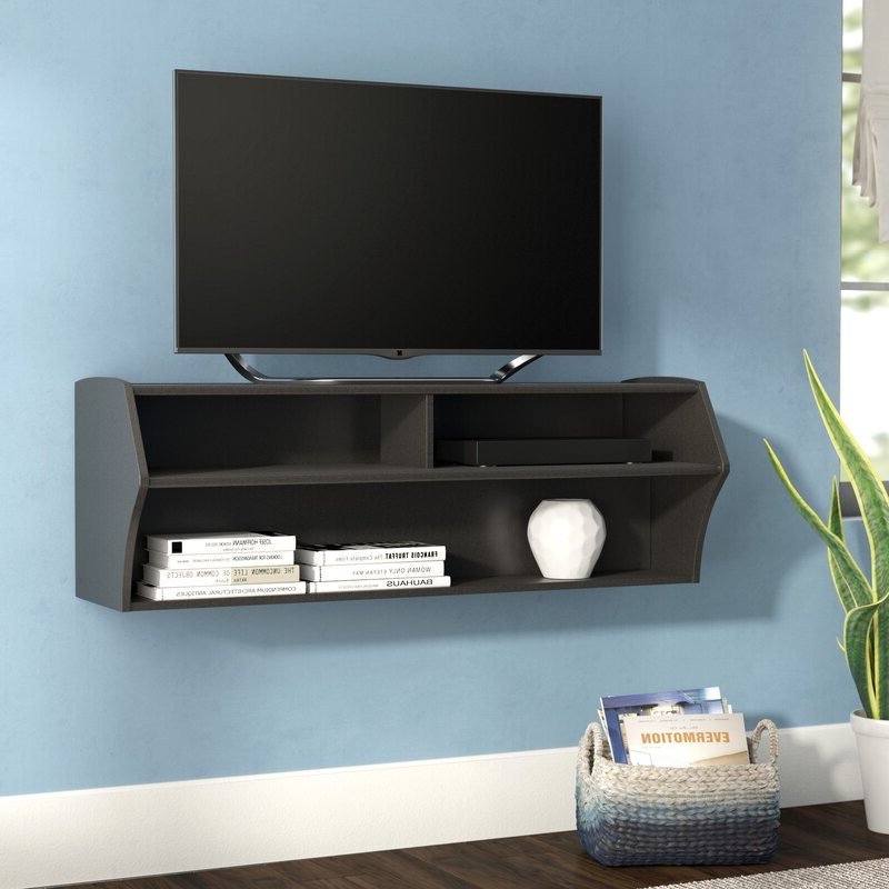 """Ebern Designs Capirano Floating Tv Stand For Tvs Up To 55 Regarding Aaliyah Floating Tv Stands For Tvs Up To 50"""" (View 15 of 20)"""