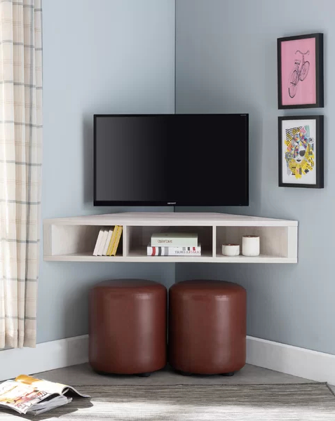 """Ebern Designs French Floating Corner Tv Stand For Tvs Up With Camden Corner Tv Stands For Tvs Up To 50"""" (View 4 of 20)"""