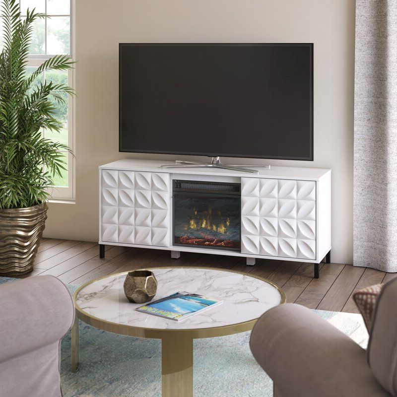 """Ebern Designs Mitchellville Tv Stand For Tvs Up To 60 For Stamford Tv Stands For Tvs Up To 65"""" (View 16 of 20)"""