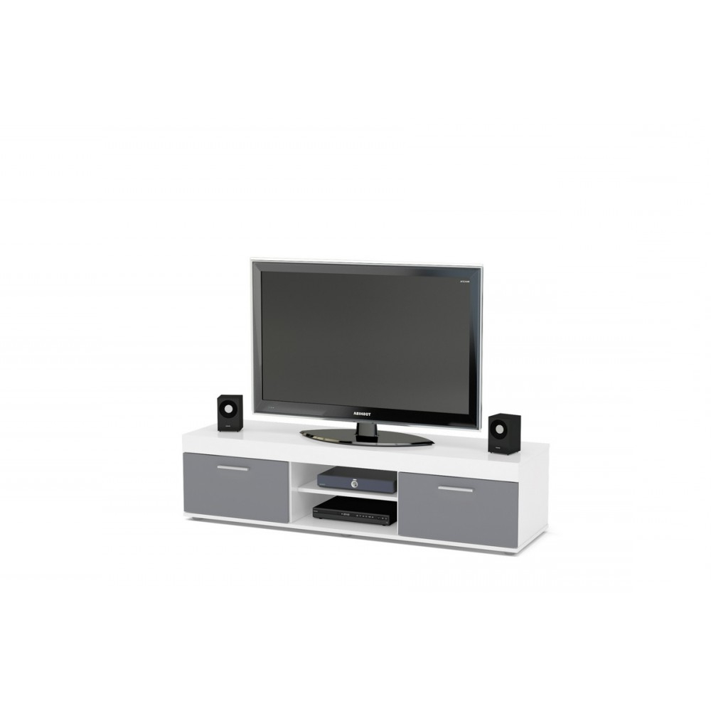 Edgeware White & Grey Tv Unit Intended For Edgeware Tv Stands (View 2 of 20)