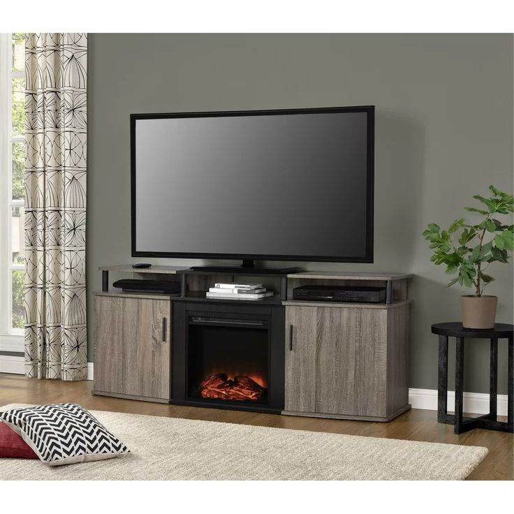 """Elian Tv Stand For Tvs Up To 70"""" With Fireplace Included With Regard To Hetton Tv Stands For Tvs Up To 70"""" With Fireplace Included (View 5 of 20)"""