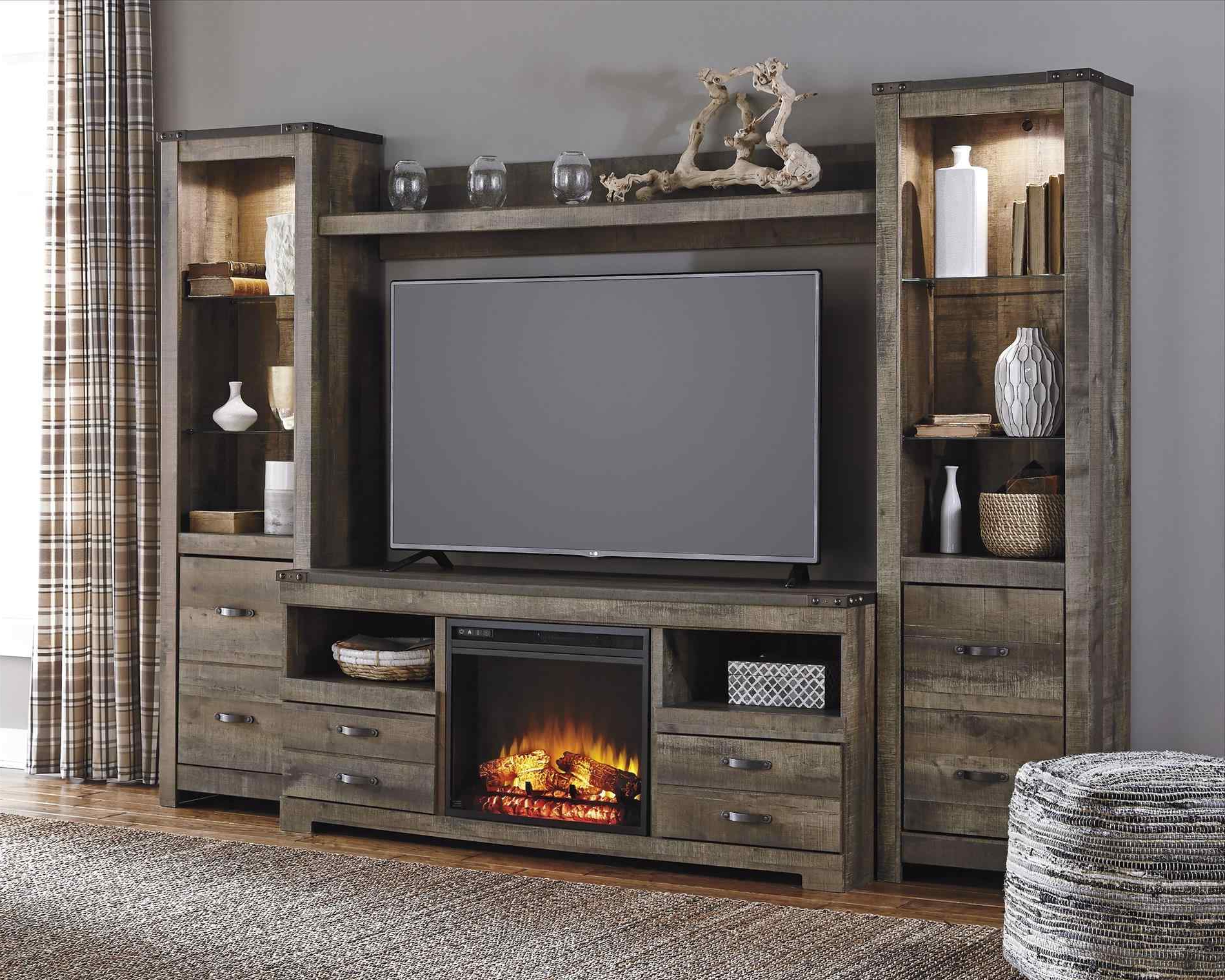 Entertainment Center In Front Of Fireplace | Sofa Cope Pertaining To Electric Fireplace Tv Stands With Shelf (View 14 of 20)