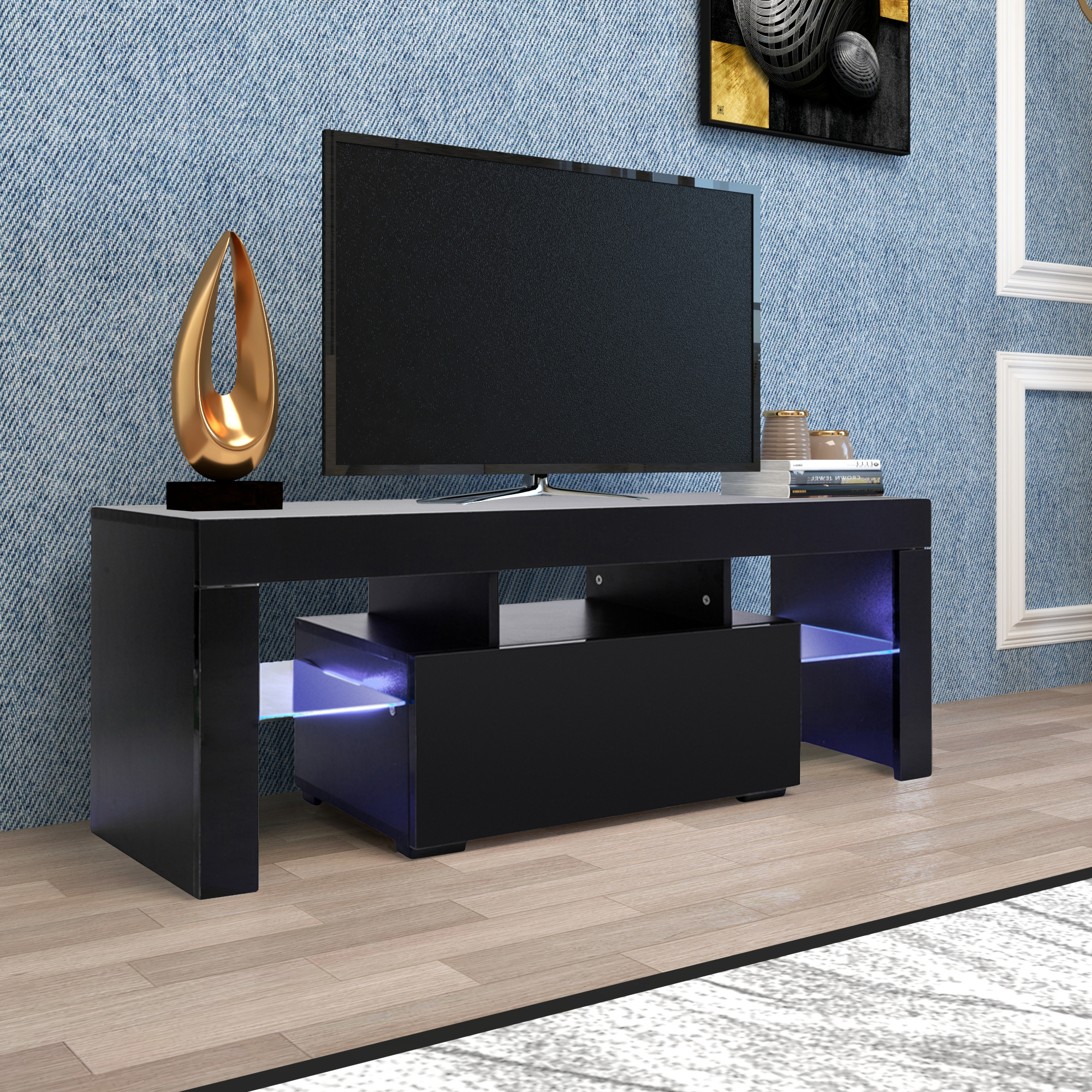 Entertainment Centers And Tv Stands, Yofe Tv Stand With Intended For 57'' Led Tv Stands Cabinet (View 15 of 20)