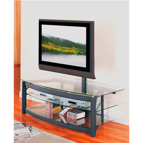 """Entertainment Furniture – 60"""" Wide Matte Black Tv Console With Regard To Modern Mobile Rolling Tv Stands With Metal Shelf Black Finish (View 5 of 20)"""