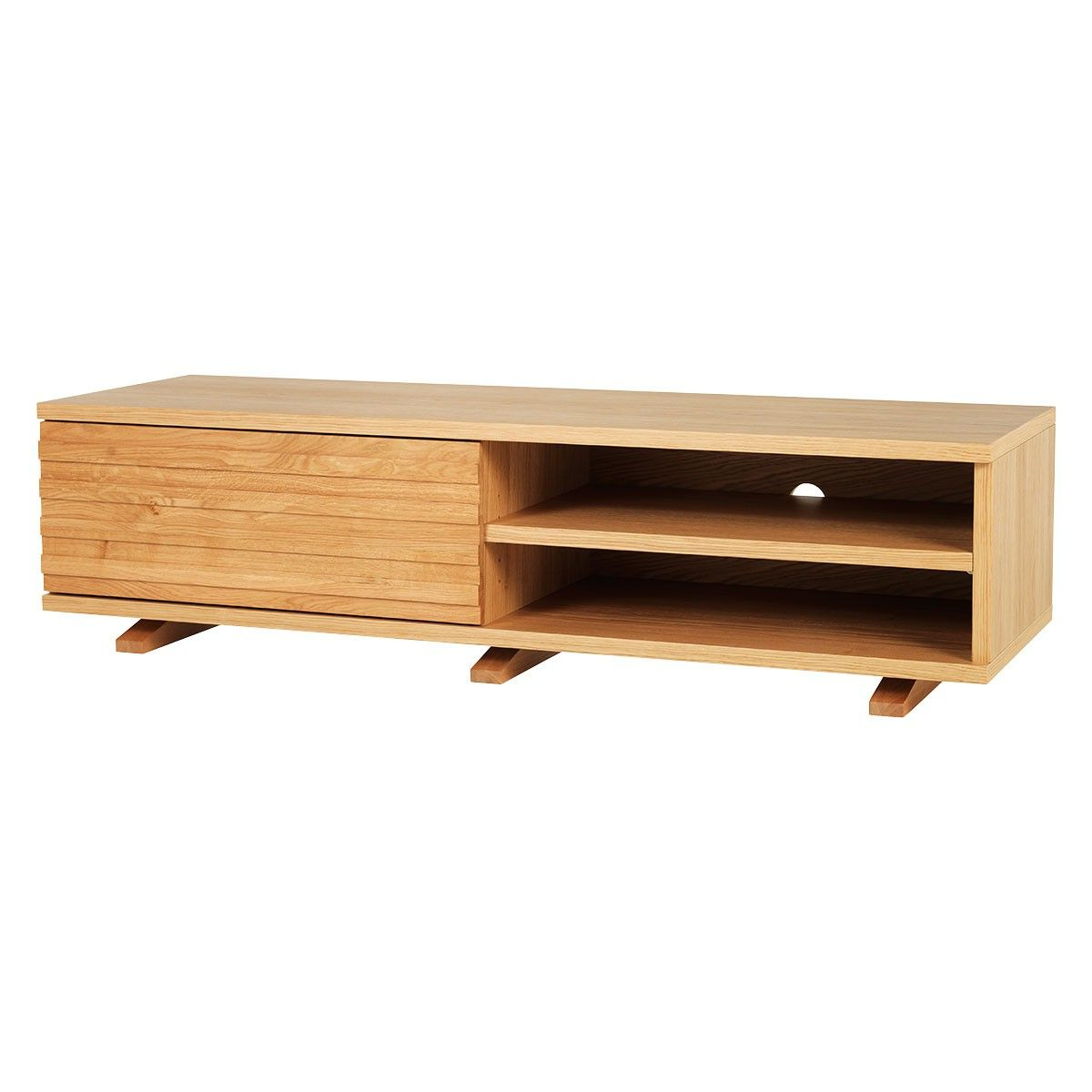 Enzo Oak Tv Stand With One Storage Drawer £495 – Also In Scandi 2 Drawer White Tv Media Unit Stands (View 8 of 20)