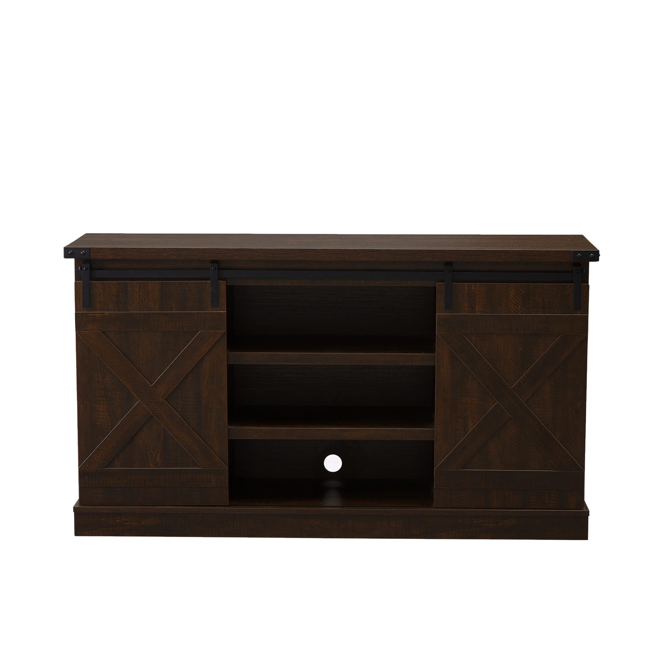 Farmhouse 54'' Tv Stands With Sliding Barn Door, Segmart Intended For Tv Stands With Cable Management (View 6 of 20)