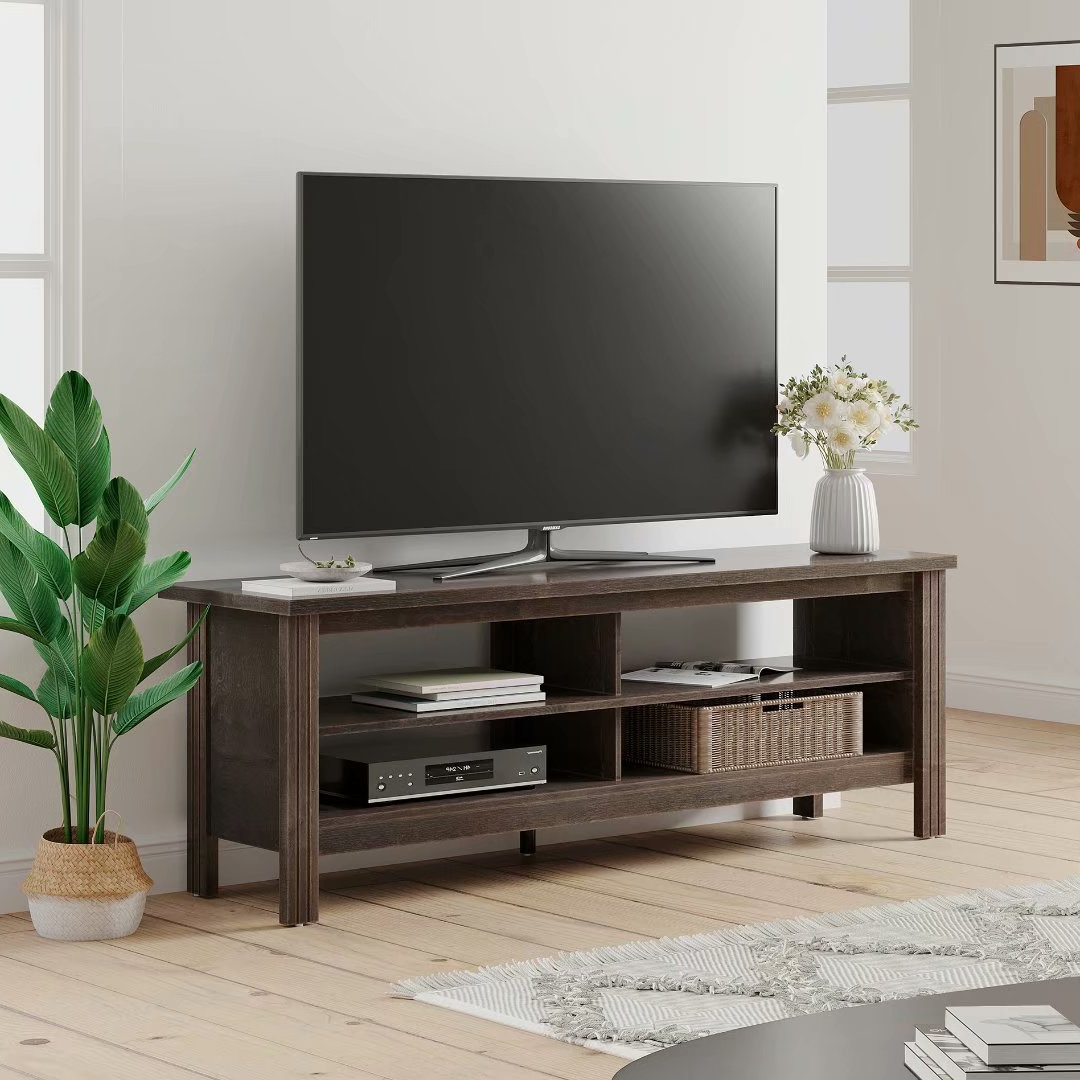 """Farmhouse Tv Stand Fo Tvs Up To 65 Inch Tv Console Table Regarding Grenier Tv Stands For Tvs Up To 65"""" (View 1 of 20)"""