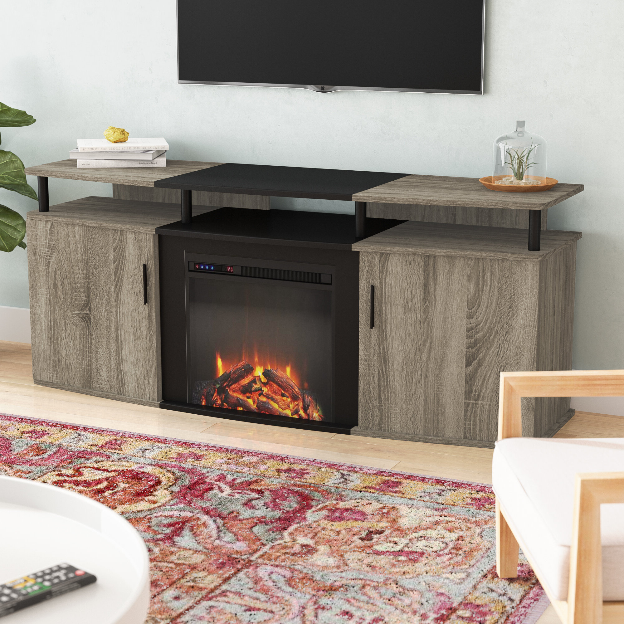 """Fireplace Tv Stand 70 Inch – Ideas On Foter Within Kinsella Tv Stands For Tvs Up To 70"""" (View 13 of 20)"""