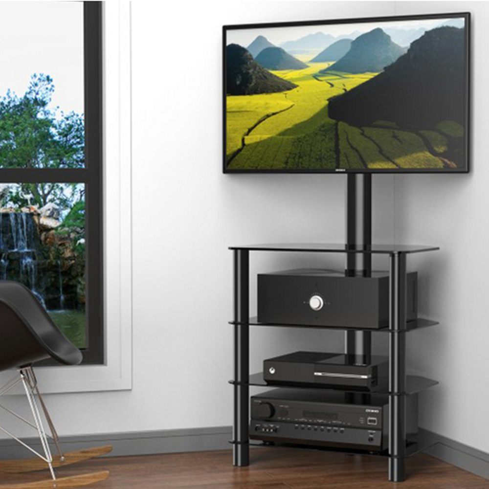 Fitueyes Corner Floor Tv Strand With Swivel Mount For 32 Throughout Swivel Floor Tv Stands Height Adjustable (View 5 of 20)