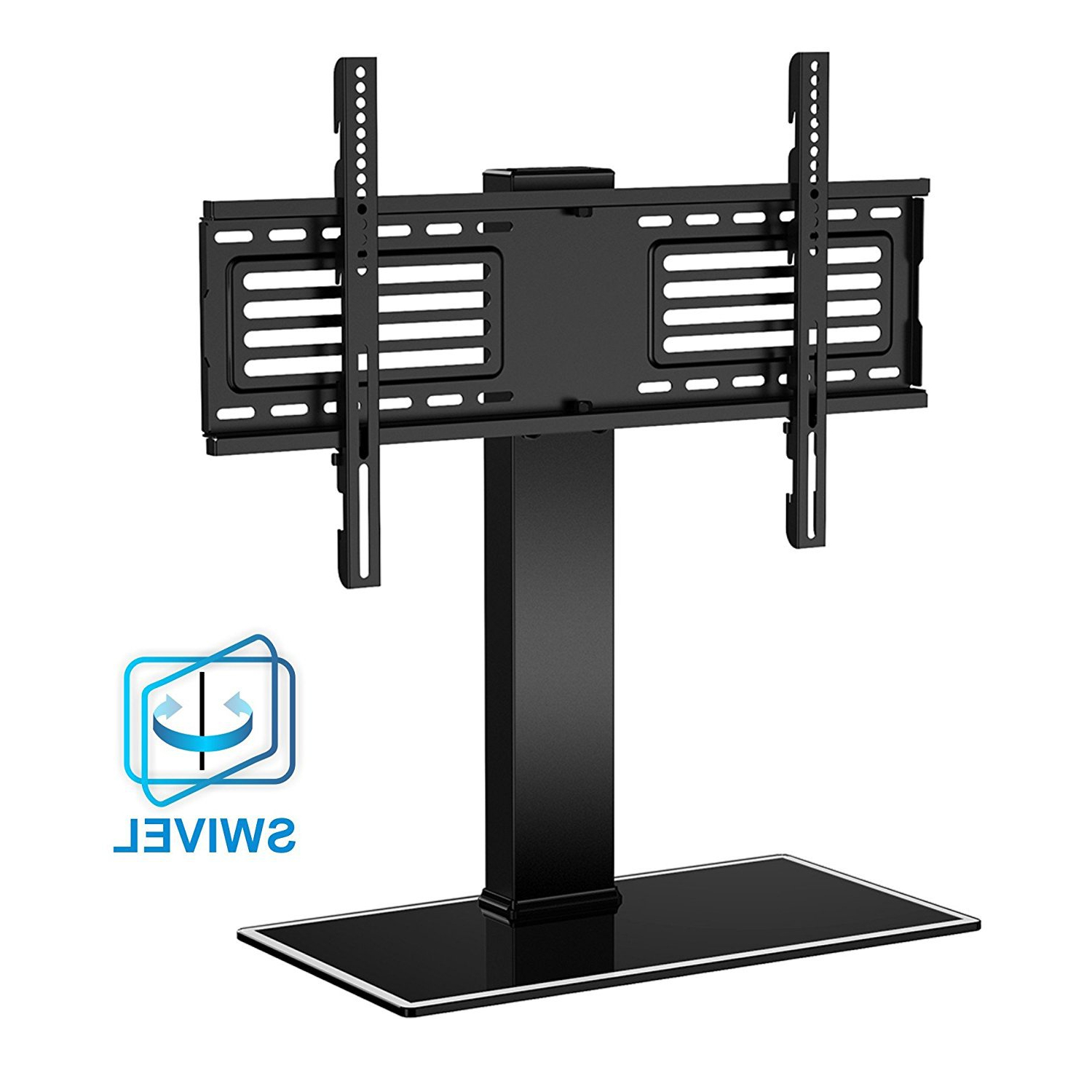 """Fitueyes Height Adjustment Universal Tabletop Swivel Tv Inside Paulina Tv Stands For Tvs Up To 32"""" (View 9 of 20)"""