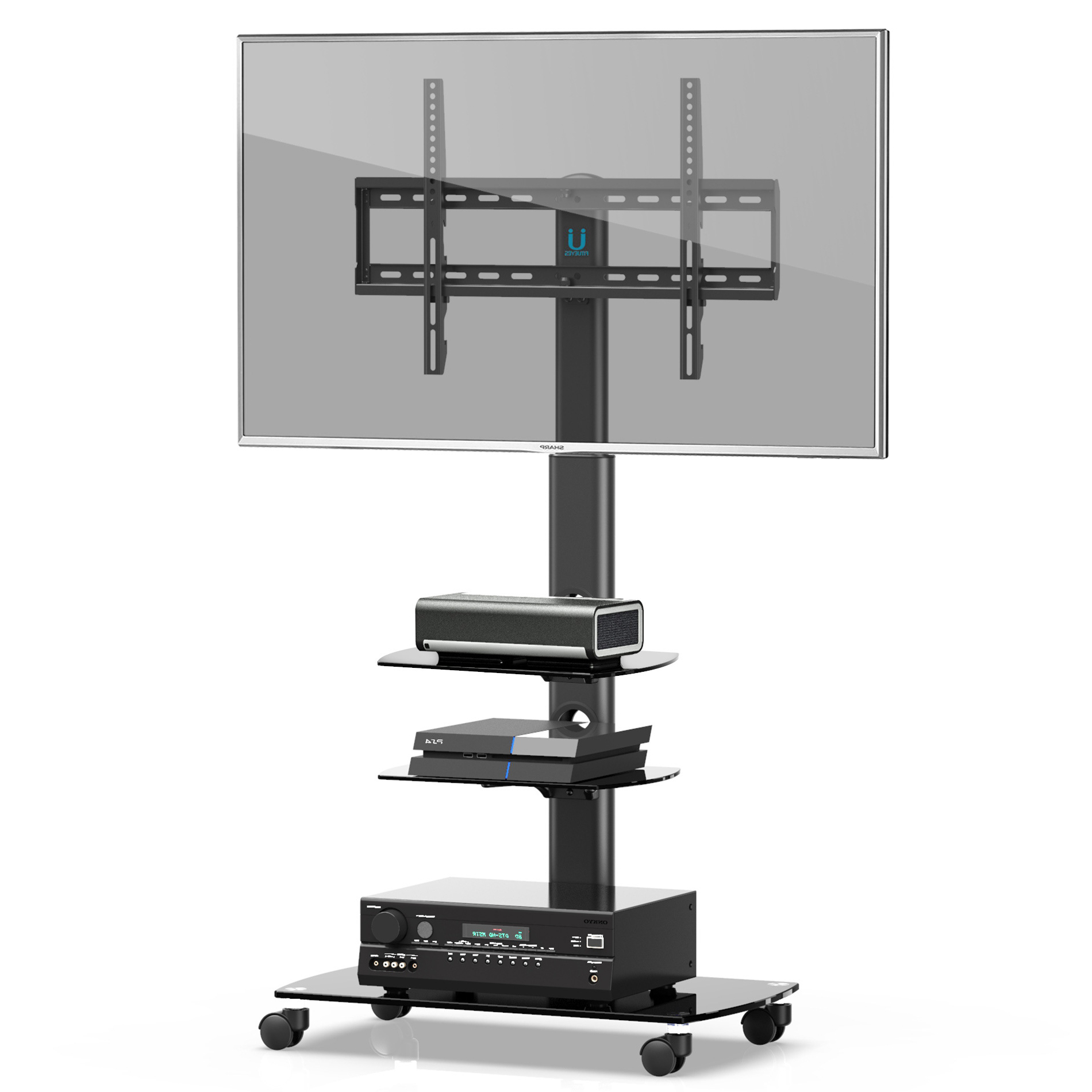 """Fitueyes Mobile Tv Stand/cart With Wheels Swivel Mount And With Paulina Tv Stands For Tvs Up To 32"""" (View 2 of 20)"""