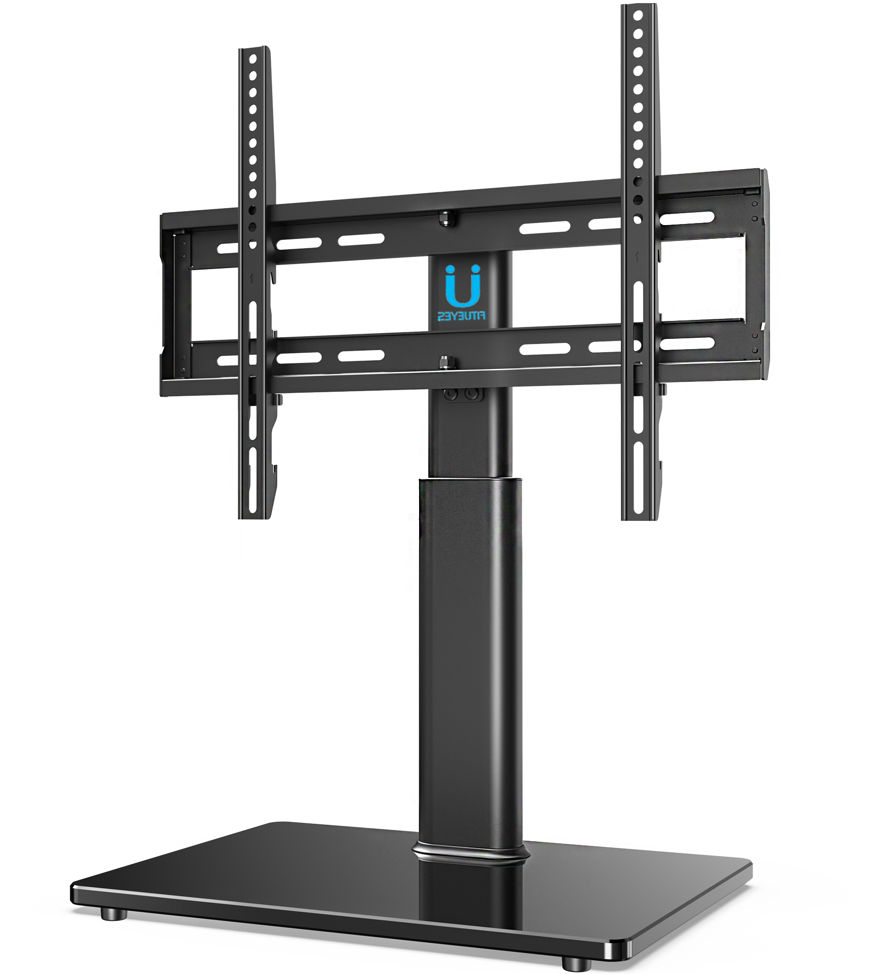 """Fitueyes Universal Tv Stand Tabletop Base With Swivel Pertaining To Kasen Tv Stands For Tvs Up To 60"""" (View 17 of 20)"""
