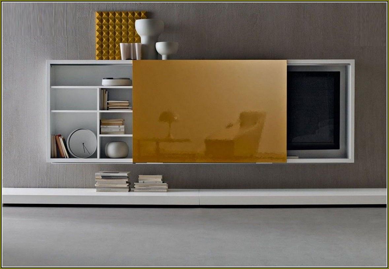 Flat Screen Tv Cabinet With Sliding Doors – Best Home Regarding Santiago Tv Stands (View 6 of 20)