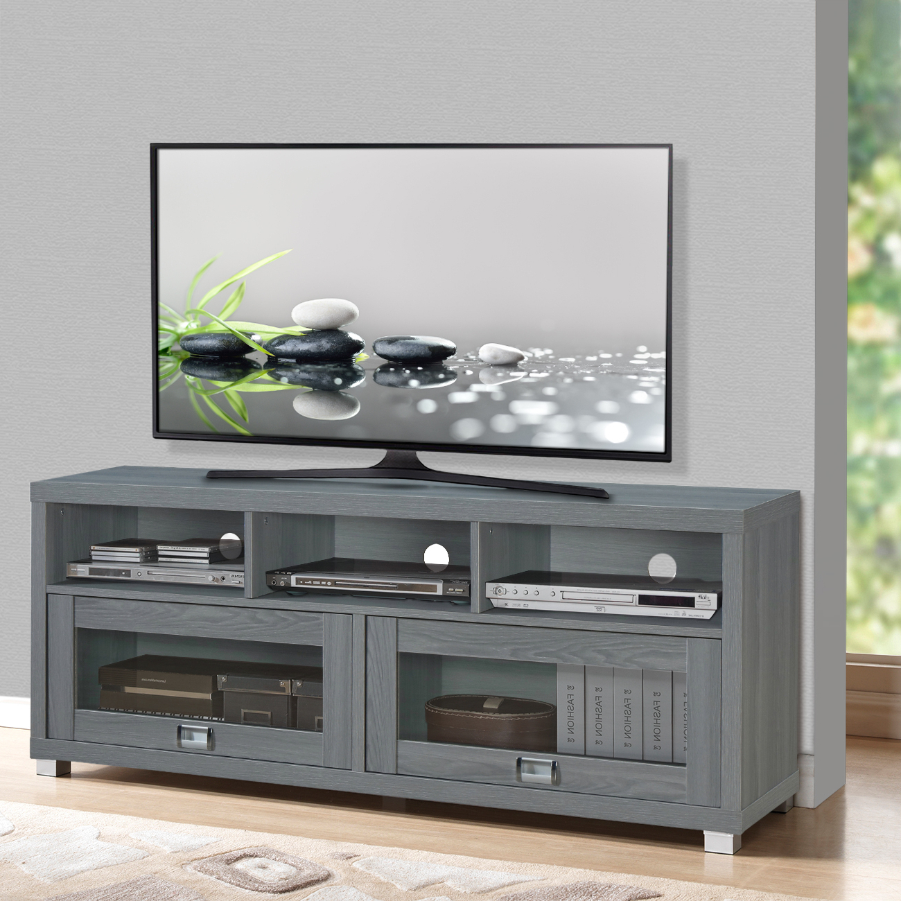 """Flat Screen Tv Stand Up To 75 Inch 50 55 60 65 70 55in Pertaining To Kinsella Tv Stands For Tvs Up To 70"""" (View 17 of 20)"""