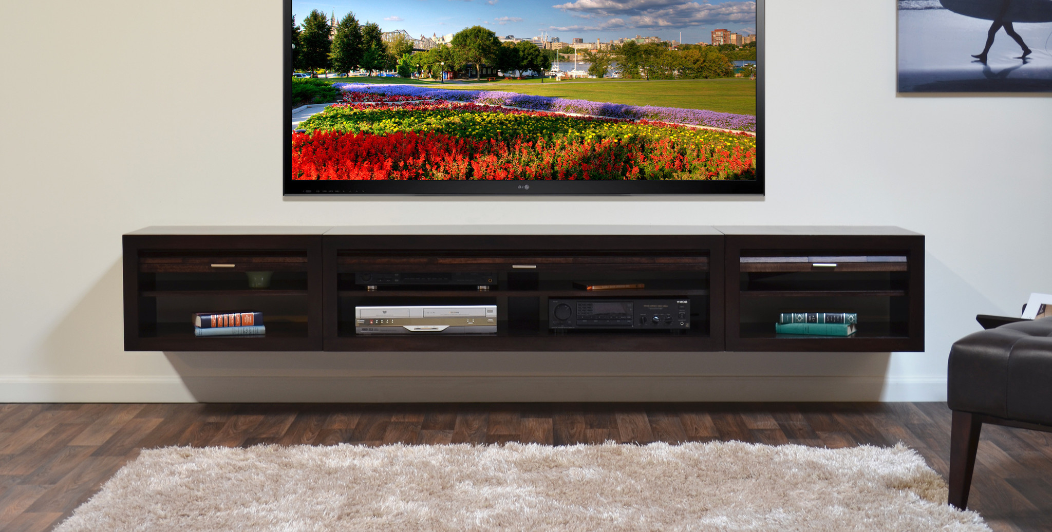 Floating Media Center: Stylish And Space Saving Furniture In Space Saving Gaming Storage Tv Stands (View 12 of 20)