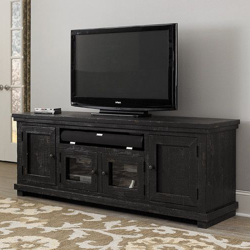 Found It At Joss & Main – Winslet Media Console   Black Tv With Modern Black Tv Stands On Wheels With Metal Cart (View 6 of 20)