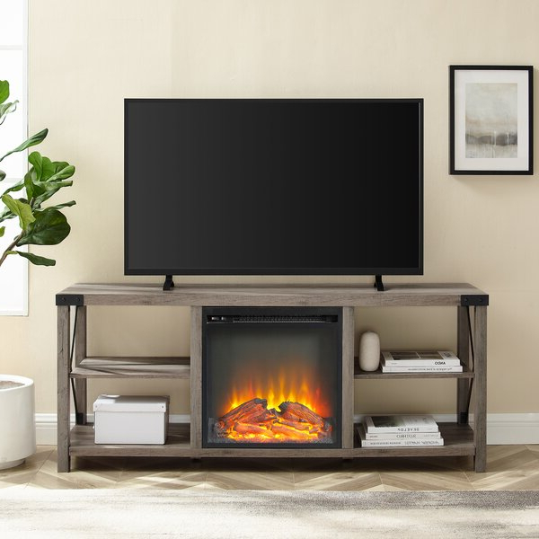 """Foundry Select Arsenault Tv Stand For Tvs Up To 65"""" With For Rickard Tv Stands For Tvs Up To 65"""" With Fireplace Included (View 3 of 20)"""