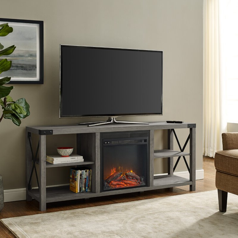 """Foundry Select Arsenault Tv Stand For Tvs Up To 65"""" With Throughout Chicago Tv Stands For Tvs Up To 70"""" With Fireplace Included (View 1 of 20)"""