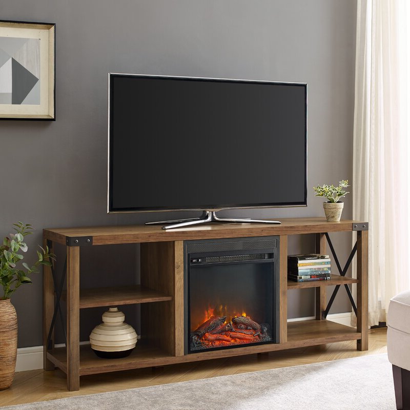 """Foundry Select Arsenault Tv Stand For Tvs Up To 65"""" With Throughout Rickard Tv Stands For Tvs Up To 65"""" With Fireplace Included (View 14 of 20)"""