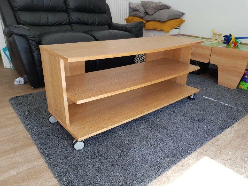 Free Ikea Oak Effect Tv Stand | In Arnold, Nottinghamshire Regarding Fulton Oak Effect Corner Tv Stands (View 11 of 20)