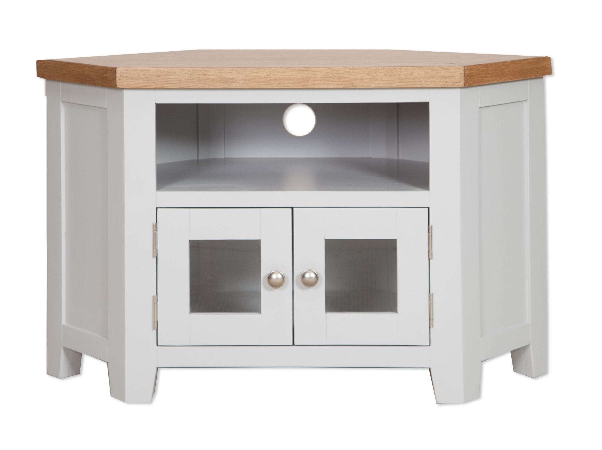 French Ivory Cream Painted Sideboard 3 Door 3 Drawer With Regard To Compton Ivory Corner Tv Stands With Baskets (View 9 of 20)
