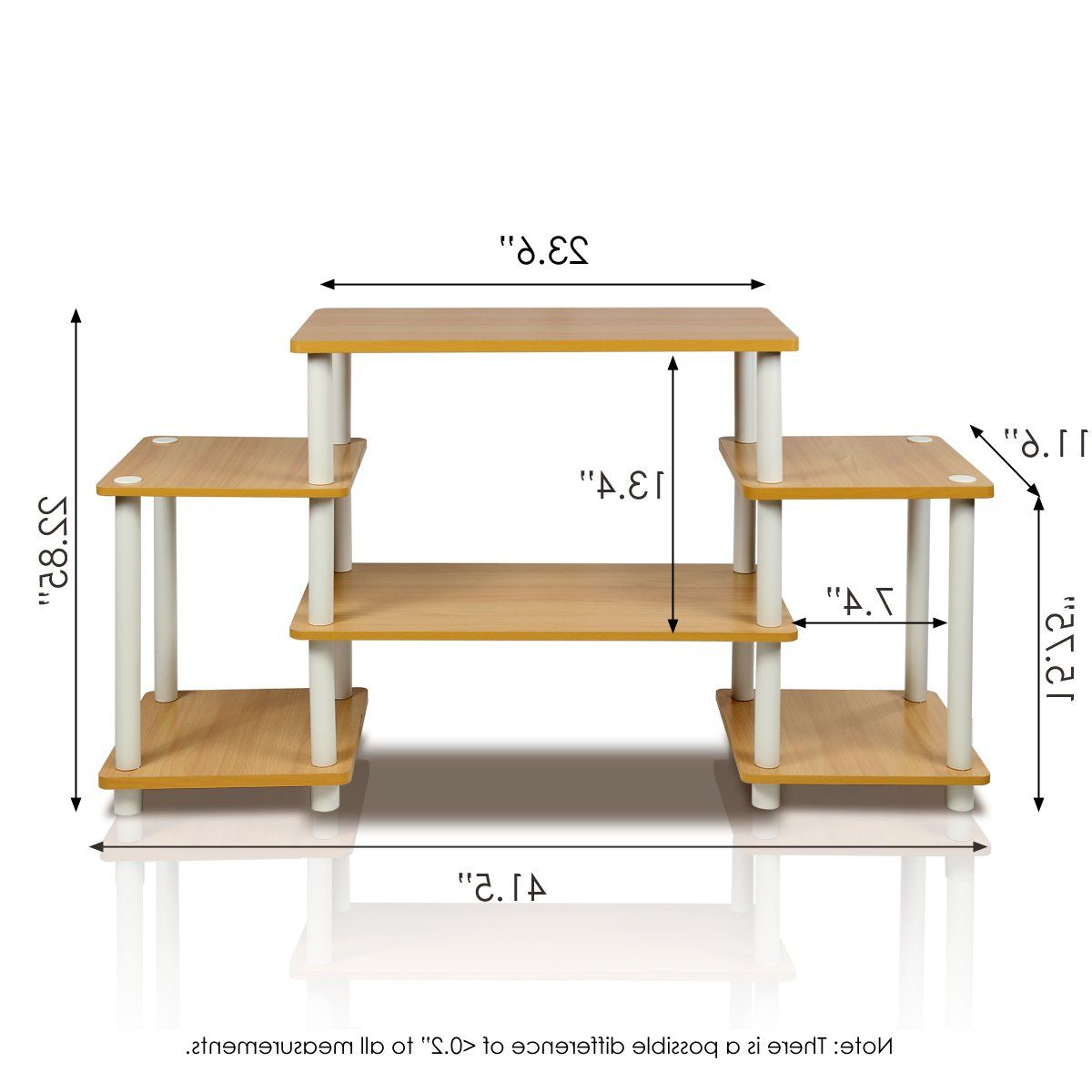Furinno 11257be/wh Turnntube No Tools Entertainment Tv Intended For Furinno Turn N Tube No Tool 3 Tier Entertainment Tv Stands (View 15 of 20)