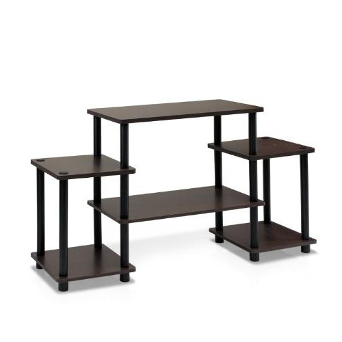 Furinno 11257dbr/bk Turn N Tube No Tools Entertainment Tv For Furinno Turn N Tube No Tool 3 Tier Entertainment Tv Stands (View 14 of 20)