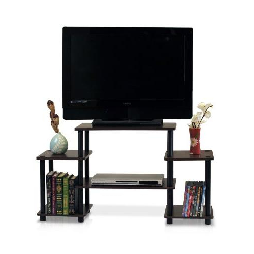 Furinno 11257dbr/bk Turn N Tube No Tools Entertainment Tv For Furinno Turn N Tube No Tool 3 Tier Entertainment Tv Stands (View 5 of 20)