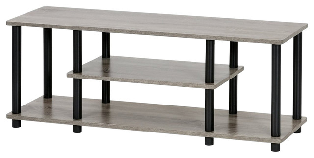 Furinno 12250gyw/bk Turn N Tube No Tools 3 Tier Within Furinno Turn N Tube No Tool 3 Tier Entertainment Tv Stands (View 9 of 20)