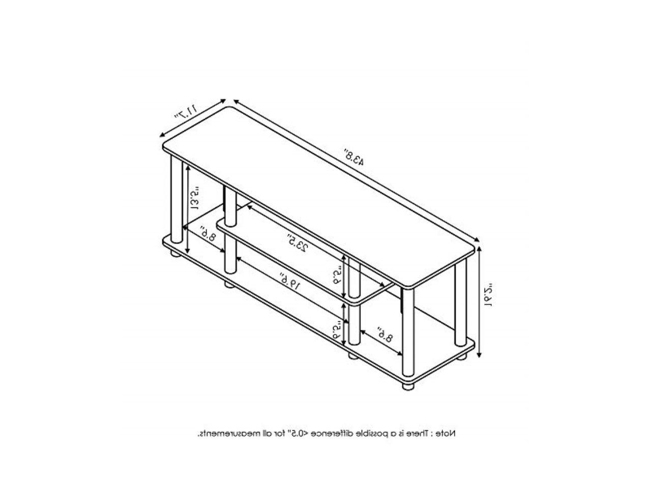 Furinno 12250r1dbr/bk Turn N Tube No Tools 3 Tier Pertaining To Furinno Turn N Tube No Tool 3 Tier Entertainment Tv Stands (View 18 of 20)