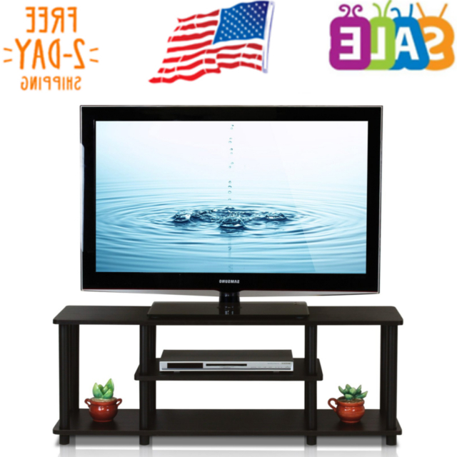 Furinno 12250r1wn/bk Turn N Tube No Tools 3 Tier Inside Furinno Turn N Tube No Tool 3 Tier Entertainment Tv Stands (View 4 of 20)