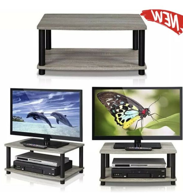 Furinno 13191gyw/bk Turn N Tube 24 Inch Tv Stand For Sale Throughout Furinno Turn N Tube No Tool 3 Tier Entertainment Tv Stands (View 11 of 20)