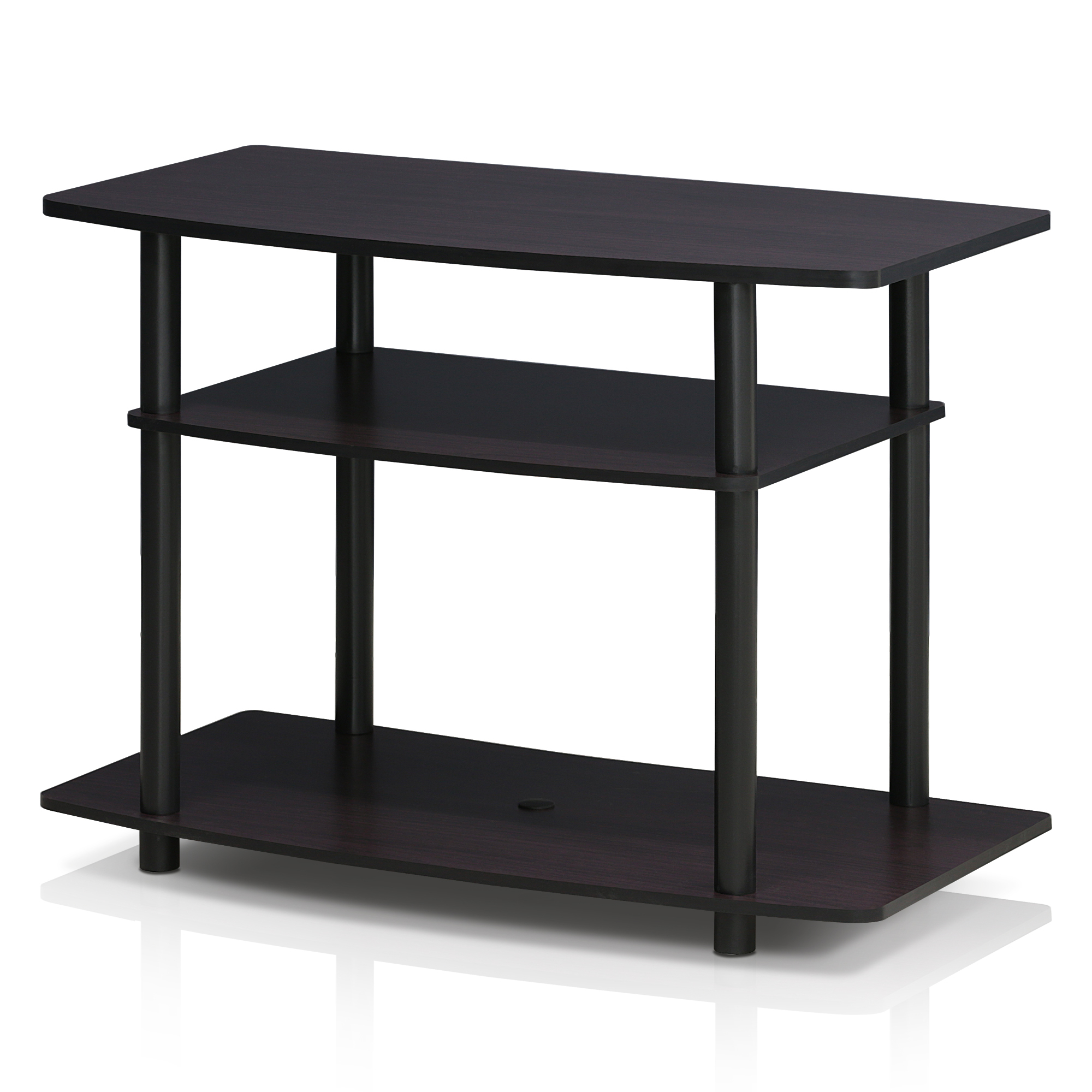 Furinno 13192dwn Turn N Tube No Tools 3 Tier Tv Stands Regarding Furinno 2 Tier Elevated Tv Stands (View 14 of 20)