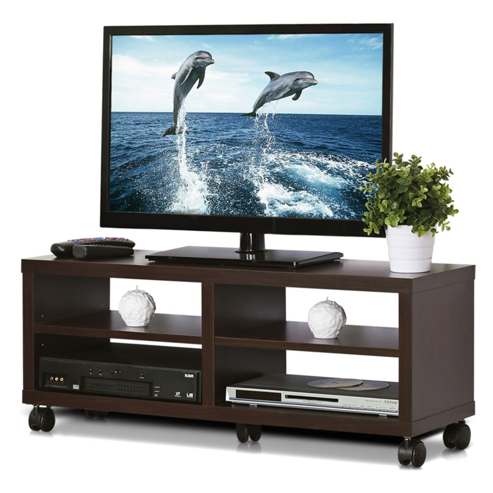 Furinno Indo Tier Low Rise Tatami Tv Entertainment Stand W Pertaining To Tier Entertainment Tv Stands In Black (View 9 of 20)