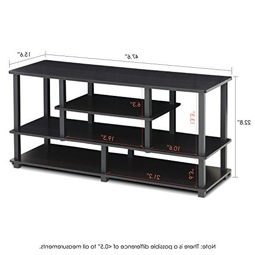 Furinno Jaya Large Stand For Up To 50 Inch Tv, Black In 2020 Intended For Furinno Jaya Large Entertainment Center Tv Stands (View 2 of 20)
