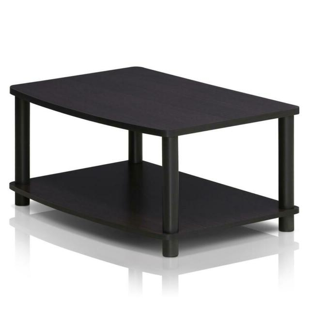 Furinno Turn N Tube No Tools 2 Tier Elevated Tv Stand Dark Within Furinno 2 Tier Elevated Tv Stands (View 4 of 20)