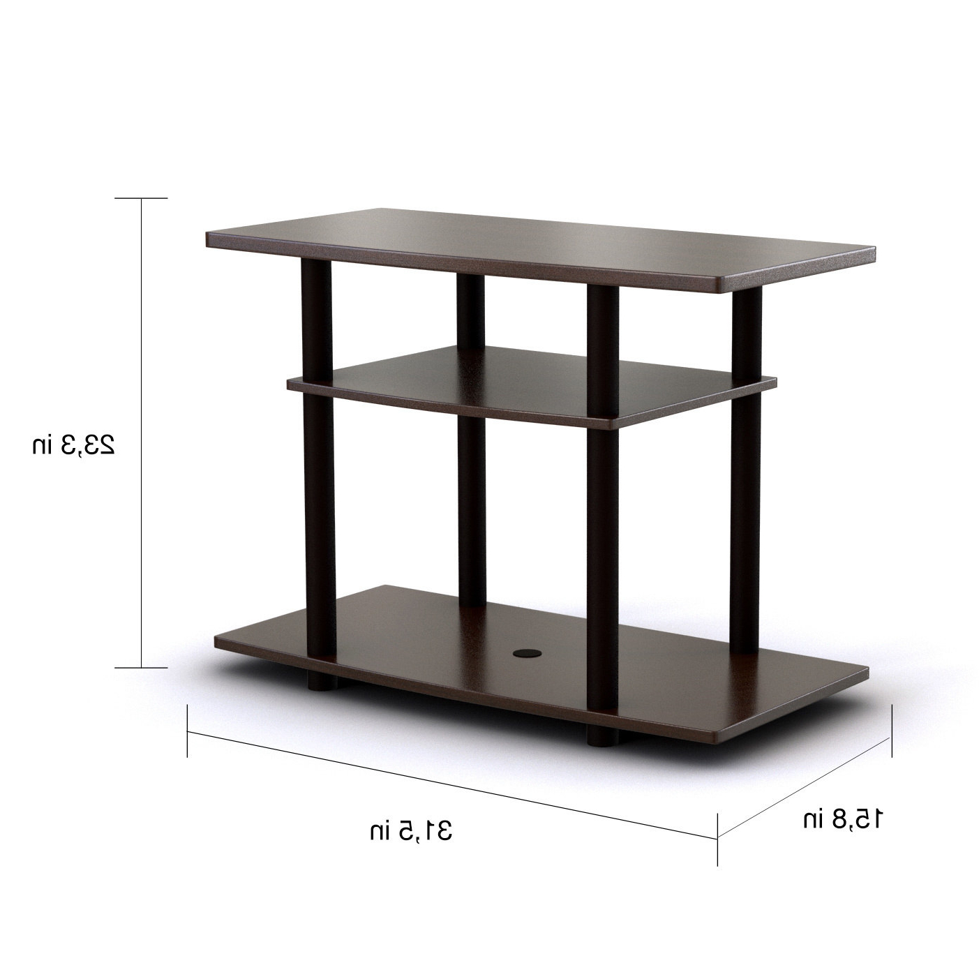 Furinno Turn N Tube No Tools 3 Tier Tv Stands With Classic With Furinno 2 Tier Elevated Tv Stands (View 16 of 20)