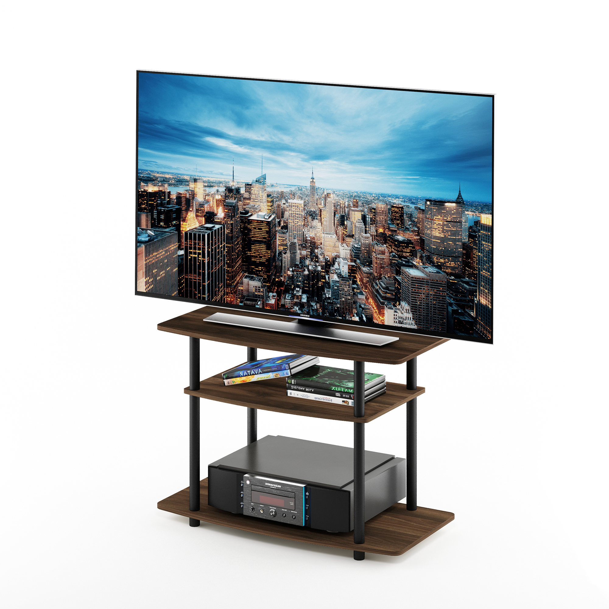Furinno Turn N Tube No Tools 3 Tier Tv Stands With Classic With Furinno Turn N Tube No Tool 3 Tier Entertainment Tv Stands (View 6 of 20)
