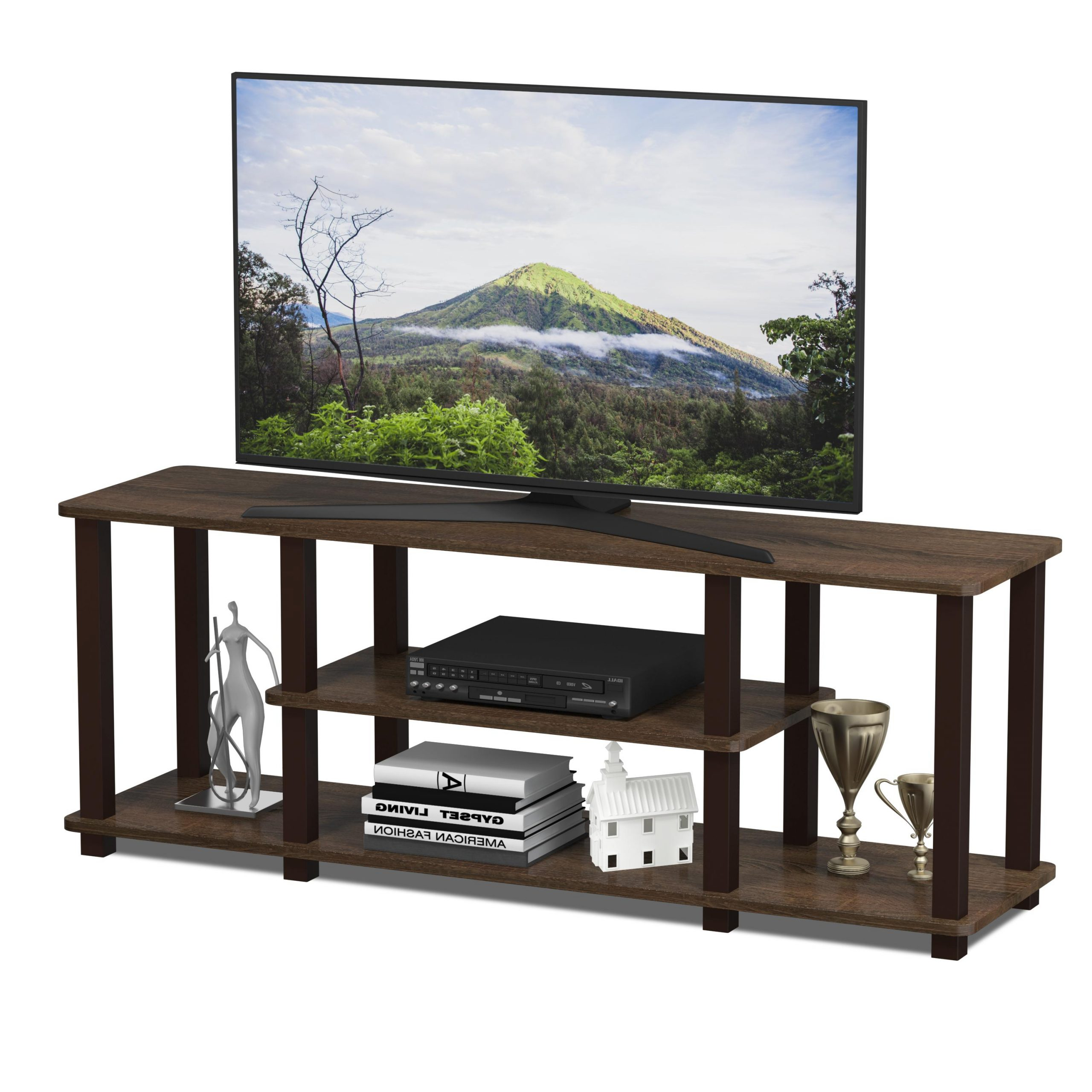 Furinno Turn S Tube No Tools 3d 3 Tier Entertainment Tv Within Furinno 2 Tier Elevated Tv Stands (View 5 of 20)