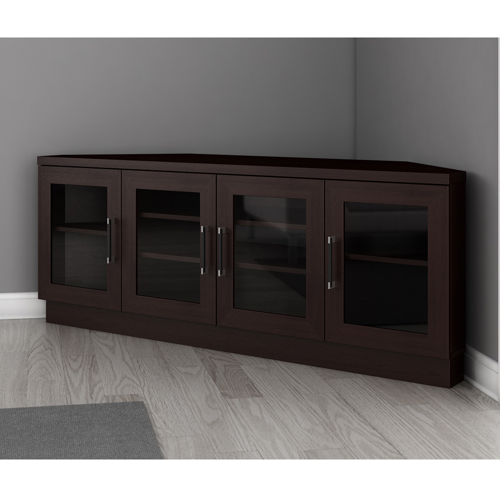 """Furnitech Ft60cccw – Contemporary Corner Tv Stand Media Within Totally Tv Stands For Tvs Up To 65"""" (View 15 of 20)"""