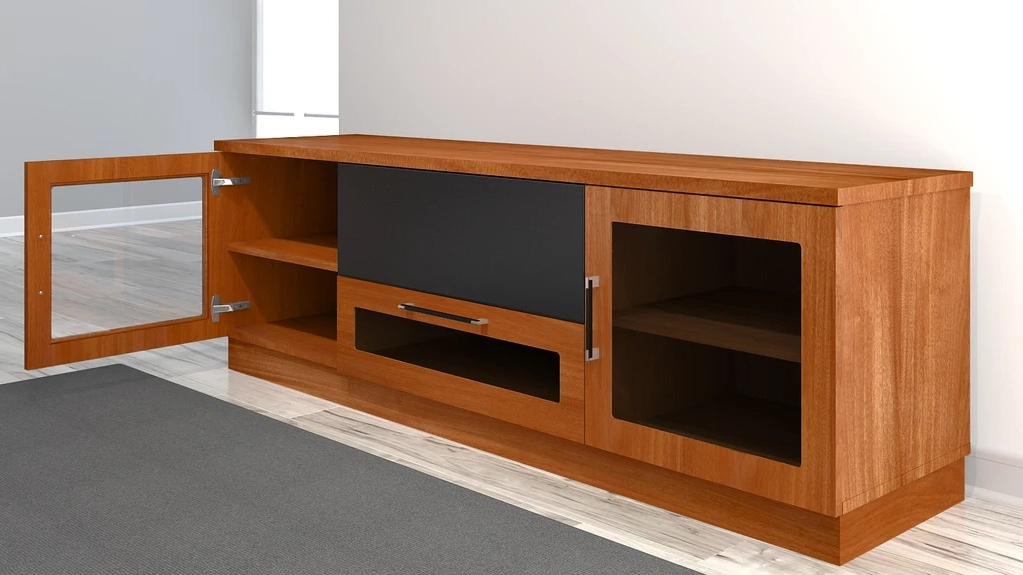 Furnitech Ft72cclc Contemporary Tv Stand Media Console Up In Tv Stands With Led Lights In Multiple Finishes (View 7 of 20)