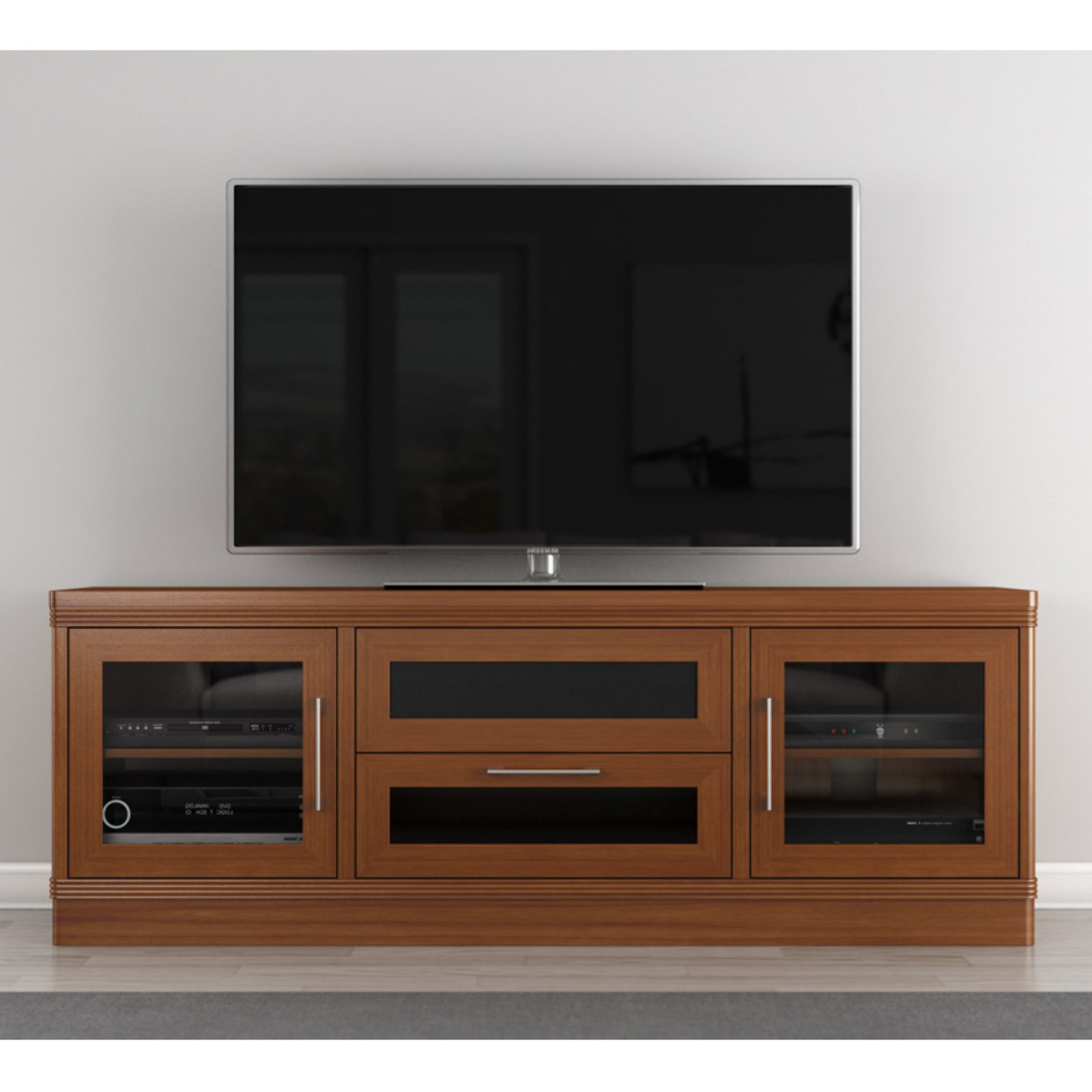 Furnitech Transitional 70 Inch Tv Stand – Walmart In Copen Wide Tv Stands (View 10 of 20)