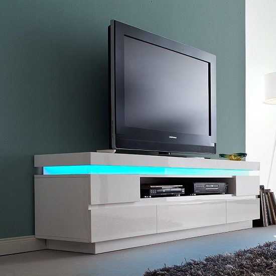 Furniture Interior Design Ideas   Furniture In Fashion Intended For 57'' Tv Stands With Led Lights Modern Entertainment Center (View 10 of 20)