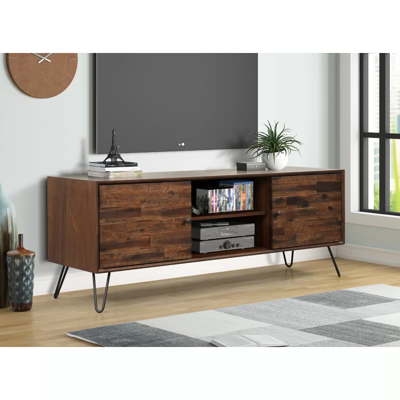 """Garvyn Solid Wood Tv Stand For Tvs Up To 65"""" 