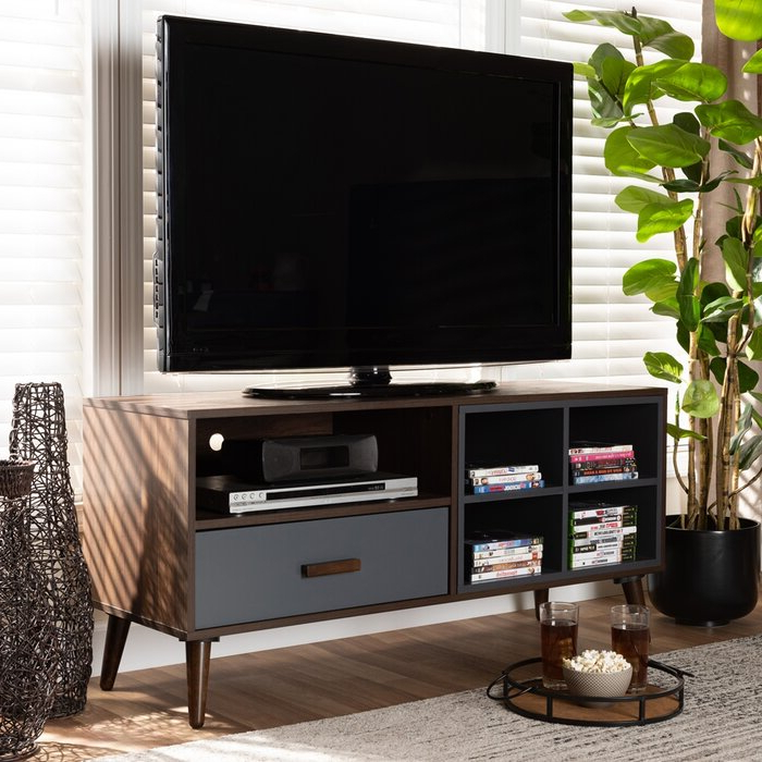 """George Oliver Niviarsiaq Solid Wood Tv Stand For Tvs Up To Pertaining To Mathew Tv Stands For Tvs Up To 43"""" (View 2 of 20)"""