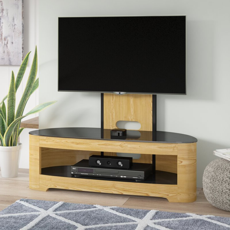 George Oliver Sunterra Tv Stand For Tvs Up To 60 With Oliver Wide Tv Stands (View 11 of 20)