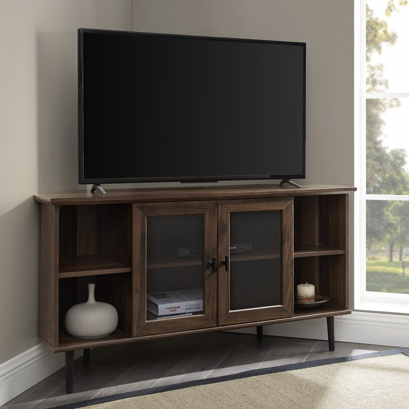 """Gerardo Corner Tv Stand For Tvs Up To 55"""" & Reviews   Joss Within Lansing Tv Stands For Tvs Up To 55"""" (View 4 of 20)"""
